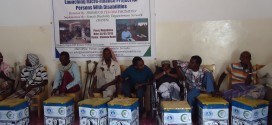 Microfinance project for persons with Disability in Somalia organized by SODEN