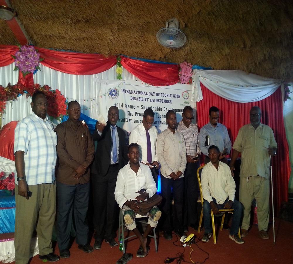 INTERNATIONAL DAY OF PERSONS WITH DISABILITY 2014, Mogadishu Somalia.