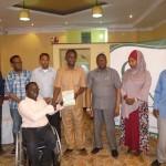 Giving Award to Mohamed from Minster Salah