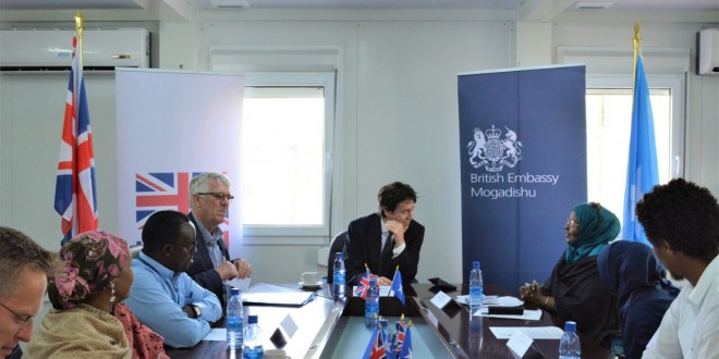 UK Minister of state of DFID met with civil society including Somali Disability Empowerment Network.