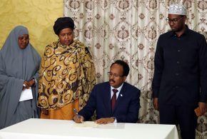 President of Somalia H.E Mohamed Abdullahi Farmaajo signed a National Disability Agency Establishment Bill.