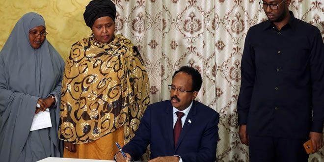 President of Somalia H E Mohamed Abdullahi Farmaajo signed a